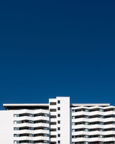 Blueskyarchitecture Built Structure Building Exterior Architecture Blue Sky Clear Sky Day No People Copy Space Outdoors Building Ralfpollack_fotografie Fujix_berlin Minimalism Minimalist Photography  Berlin Photography City Residential District Modern Apartment