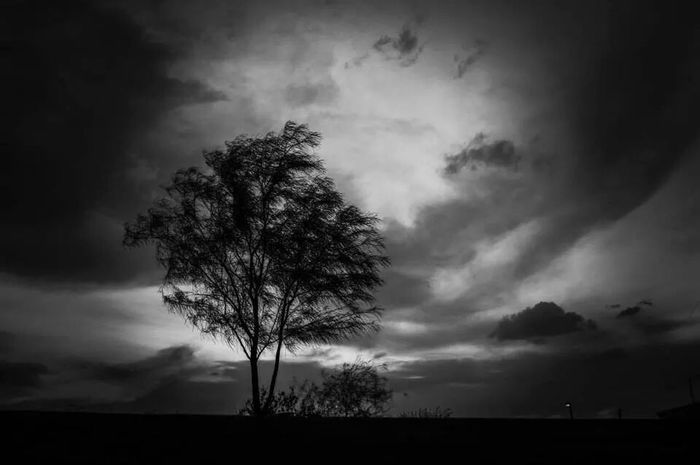 Black & White Dusk Clouds Outdoors