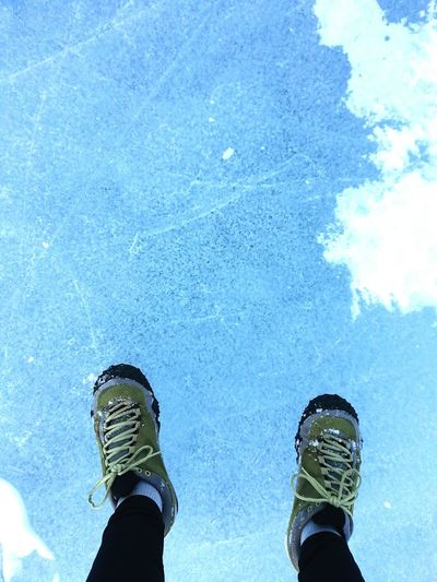Stepping Out Ice Feet Point Of View Pastel Blue Blue Ice Frozen Blue Going Places Winter Green Shoes Blue And Green Traveling Winter Hiking Walking On The Ice Walking In A Winter Wonderland Snow Walk Journey Inspirational Bright Blue