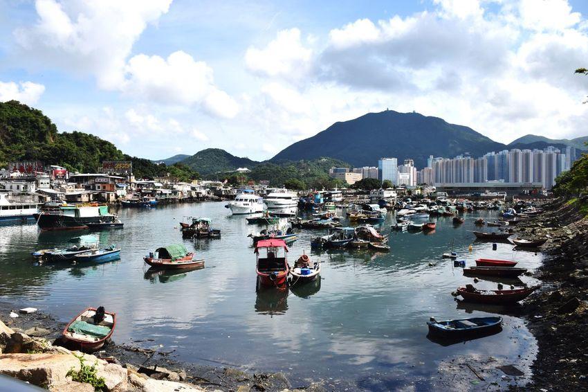 Boats⛵️ in Lei Yue Mun Fishing Village , HongKong