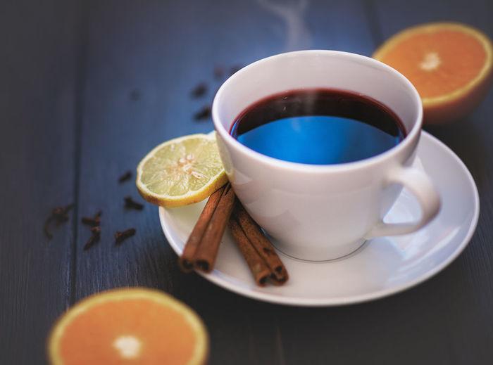 Hot tea in a