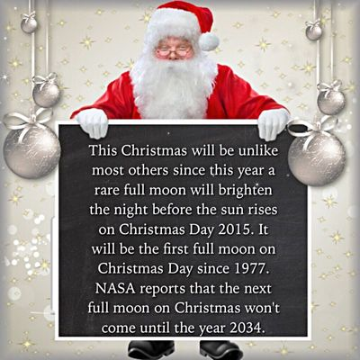 """December's full moon is known as a """"Full Cold Moon,"""" but it rarely falls on Christmas Day. Check This Out Christmas Full Moon December Fullmoon Facts Christmastime Moon Facts2go Happyholidays Xmas Christmas Around The World The Moon DECEMBER2015 Fun True Facts  2015  Moonlight"""