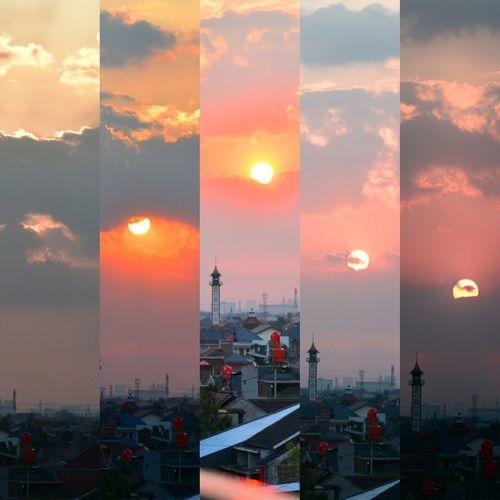 Crimson Sunset Sunset No People City Sky Nature Day Nikonindonesia Nikon D5500 Nikonteam Nikonian Tamron 70-200mm F/2.8 Nikon D5500 Urban Skyline