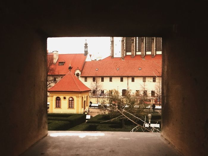 The other side Europe Trip Prague Czech Republic Langhans Building Exterior Tunnel