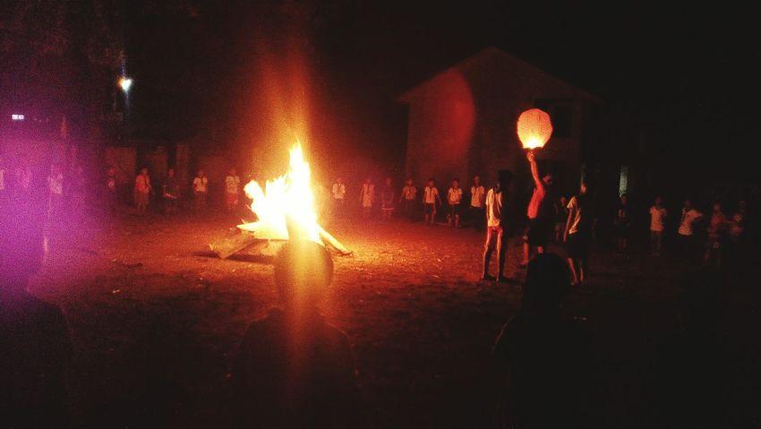 Capturing School Campfire.