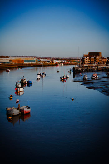 Postcard Blue Boats Cosy England Front View Lifestyles Pairs River Sea Water Flow EyeEmNewHere