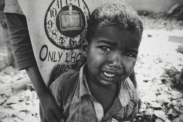 India Boy Crying Child India Wanderlust Charitywork Teardrops