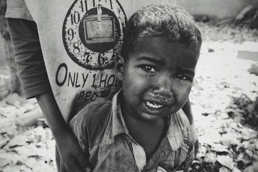 India Boy Crying Child India Wanderlust Charitywork Teardrops