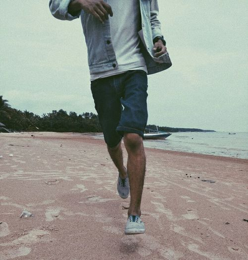 potret kaki Low Section Water Men Beach Standing Sand Human Leg Sea Jeans Walking Moments Of Happiness