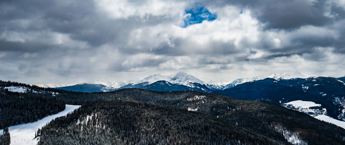 Aspen Beauty In Nature Cloud - Sky Cold Temperature Color Colorado Day Forest Landscape Mountain Mountain Range Nature No People Outdoors Range Scenics Serenity Ski Sky Snow Tranquility Trees Vail  Weather Winter