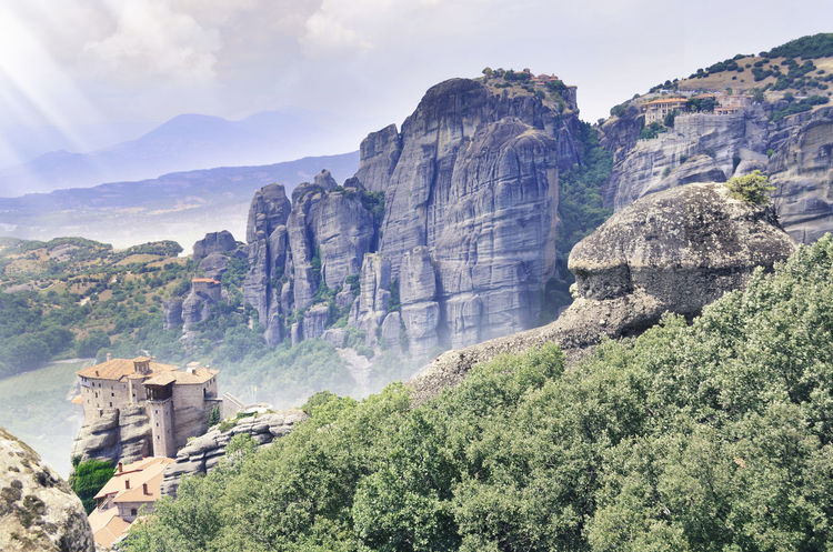 Architecture Architecture Beauty In Nature Built Structure Cloud - Sky Day Geology Majestic Meteora Mountain Mountain Range Nature No People Non-urban Scene Panorama Physical Geography Rock Formation Rocky Rocky Mountains Scenics Sky Stone Tourism Tranquil Scene Tranquility