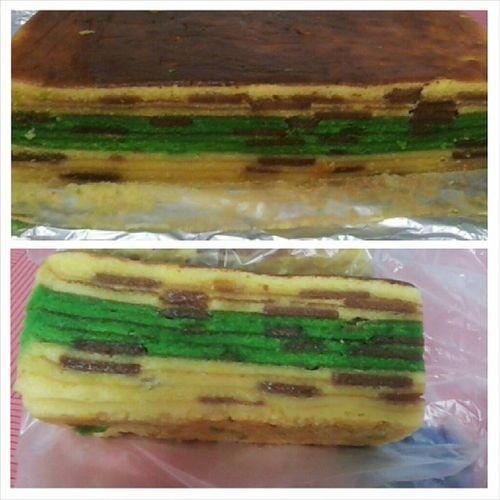 Done wif the cake..Kek Lapis Cindai AKA masam manis