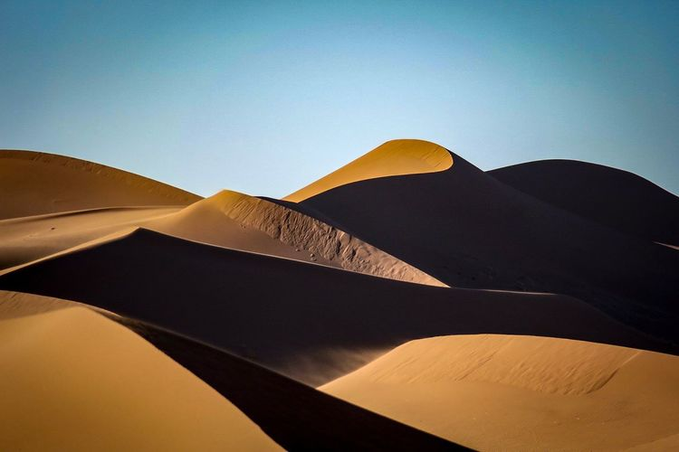 Low Angle View Of A Desert
