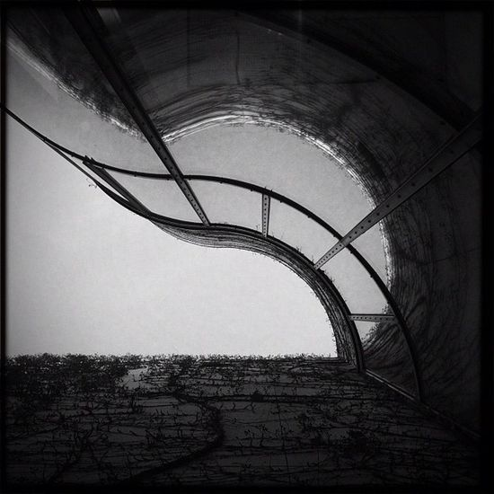 gewellt Reflection Hipstamatic Sky Glass Curve Germany Lines Bw Deutschland Bonn Bundeskunsthalle Museumsmeile