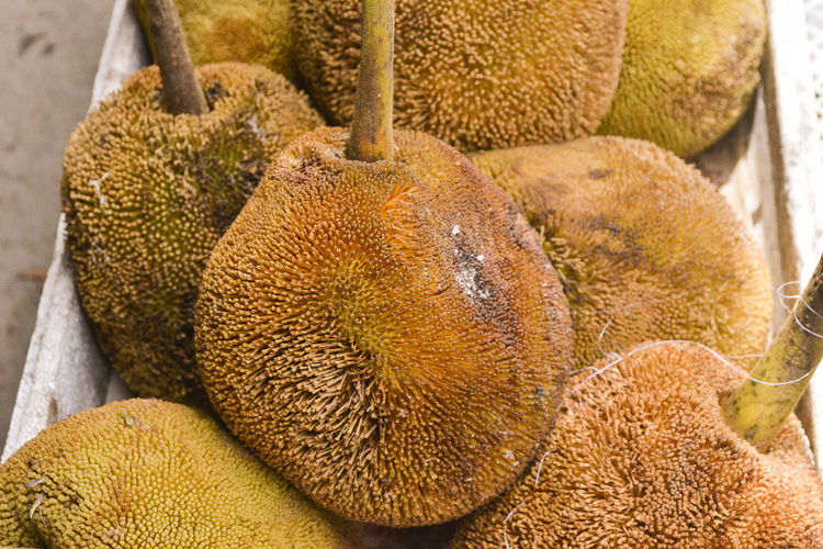 Close-Up Of Jackfruits In Market