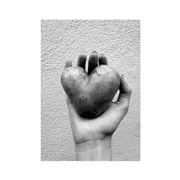 Potato Human Hand Human Body Part Heart Shape Close-up White Background Day First Eyeem Photo Kartoffel Heart Herz ❤ 😚 Beautiful Photo Photography Photooftheday Photos Photographer Photograph Blackandwhite Schwarzweiß