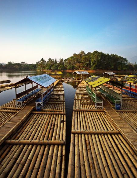 Situ Cangkuang #Indonesia #JavaIsland #Lake #WestJava Blue Built Structure Clear Sky Day Nature Nautical Vessel No People Outdoors Scenics Sky Tree Water