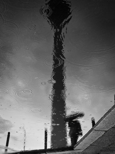 Architecture Built Structure Day Drop High Angle View Lake Monsoon Nature No People Outdoors Puddle Rain RainDrop Rainy Season Reflection Sky Water Waterfront Wet