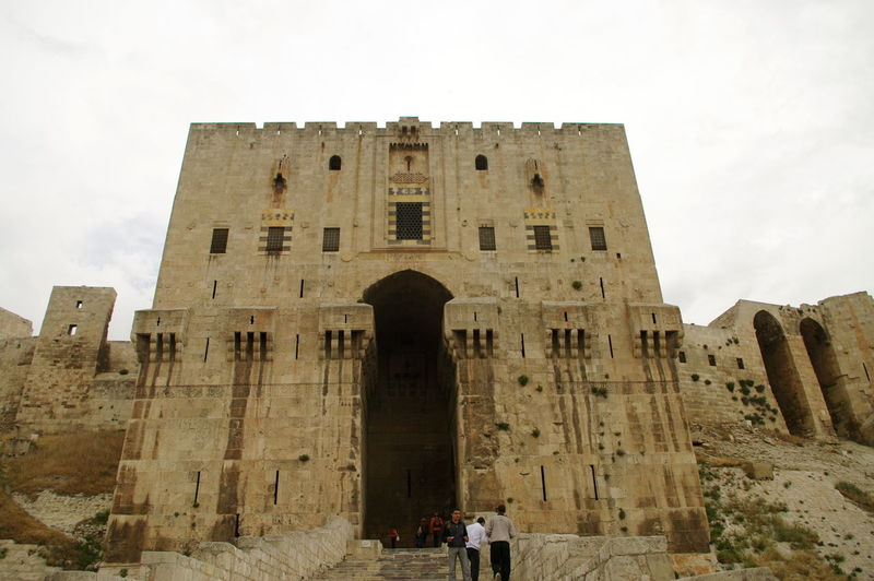 Syria  Aleppo Aleppo Castle Ancient Ancient Civilization Archaeology Architecture Building Exterior Built Structure Day History Low Angle View No People Old Ruin Oldtown Outdoors Sky The Past Travel Travel Destinations