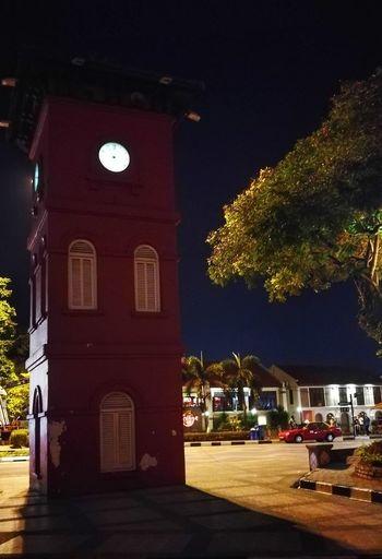 HuaweiP9 Nightphotography Nuit Malam Nacht Fotografie Tour De L'Horloge Glockenturm Menarajam Melaka Asie Voyage Reise Urlaub Travel Destinations