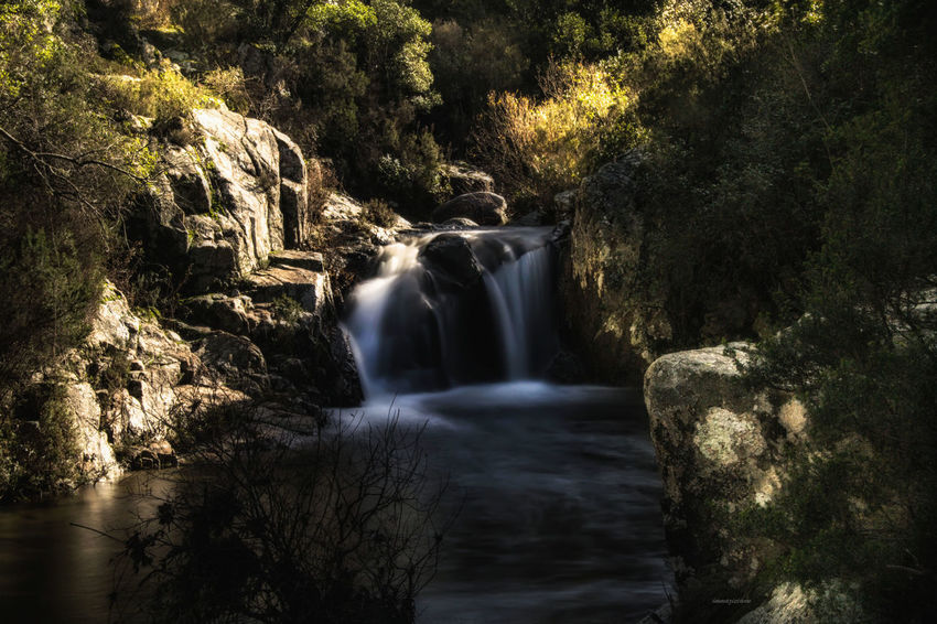 Sardinia Beauty In Nature Long Exposure Motion Nature Outdoors Rock - Object Scenics Tranquil Scene Tranquility Water Waterfall