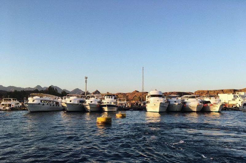 Boats Moored At Harbor
