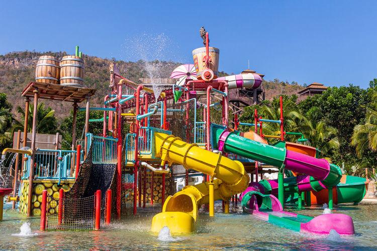 View of amusement park ride against sky
