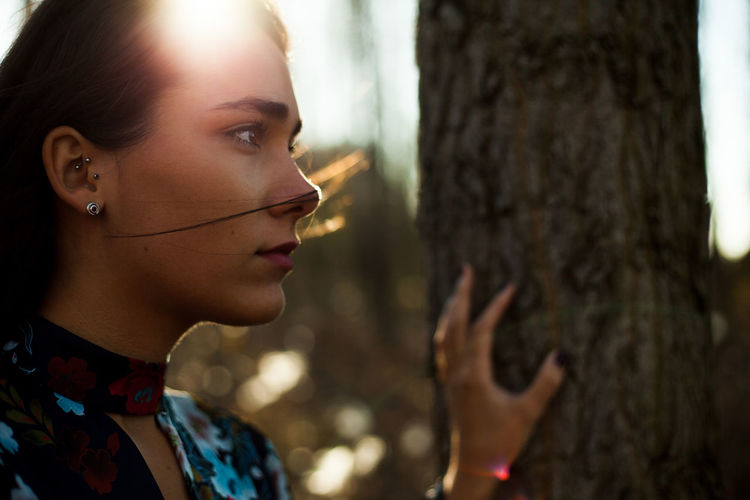 Adel Beautiful Woman Beauty Close-up Fashion Forest Headshot Human Face Human Lips Lifestyles One Woman Only One Young Woman Only Only Women Outdoors Outfit People Portrait Portrait Of A Woman TeamCanon Women Young Adult Young Women