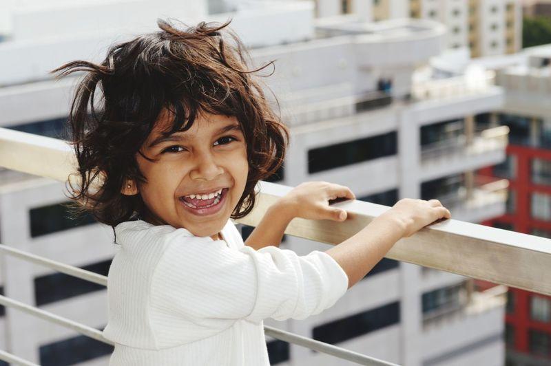 Portrait Of A Cheerful Boy