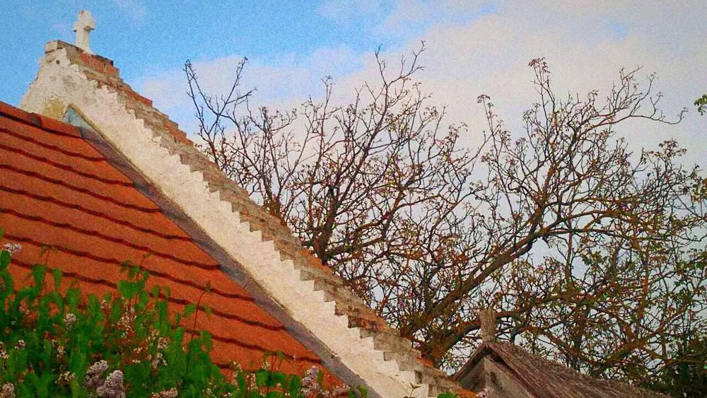 Kővágóörs, Hungary @Káli-túra Architecture House Building Exterior Tree Roof Low Angle View Sky Cloud - Sky History Built Structure Outdoors Day No People Bare Tree Branch Nature Kővágóörs, Hungary