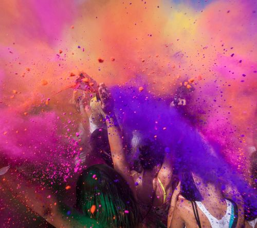 Celebration Traditional Festival Multi Colored Cultures Vibrant Color Happiness Enjoyment Powder Paint Human Body Part Group Of People EyeEmNewHere Art Is Everywhere