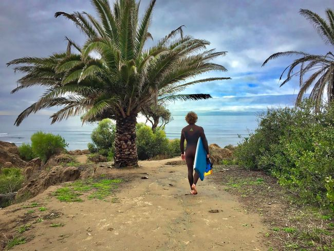 Beach Boogie Board Cali Day Full Length Nature One Person Outdoors Palm Tree People Real People S San Francisco Sand Sky Surfing Tree