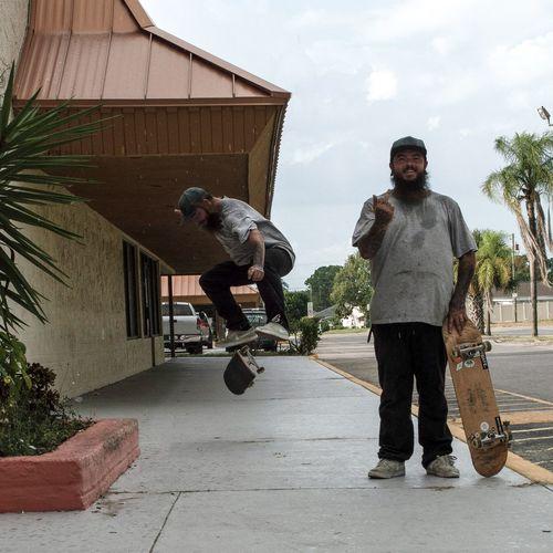 x2 Skateboarding Kick Flip New Port Richey Skate Or Die ! Men Togetherness Standing Building Exterior Built Structure