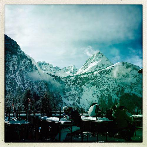 Tirol Ehrwald Mountain Real People Men Sky Nature Women Large Group Of People