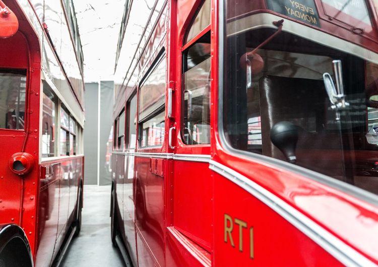 London Bus Depot LONDON❤ Leading Lines LondonTransport Transport Londonbus Red Reflections