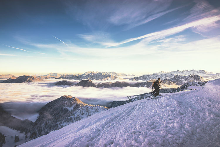 Taken at the Peak of Hochfelln Mountain at Bergen. Bavaria Bavarian Alps Beauty In Nature Cloud - Sky Clouds And Sky Cold Temperature Day Hiking Landscape Mountain Mountains Nature No People Outdoors Scenics Ski Skiing Sky Snow Snow Sports Snowshoe Sunset Wanderlust Wanderlusting Winter Miles Away