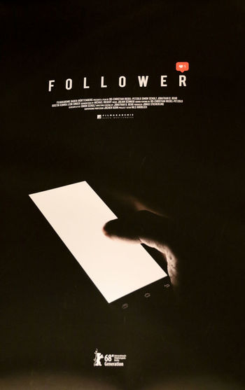 Follower film poster, German short thriller by Jonathan Behr Film Jonathan Behr MOVIE Movie Poster Art Cinema Entertainment Film Poster Film Posters Follower Movie Posters Sign