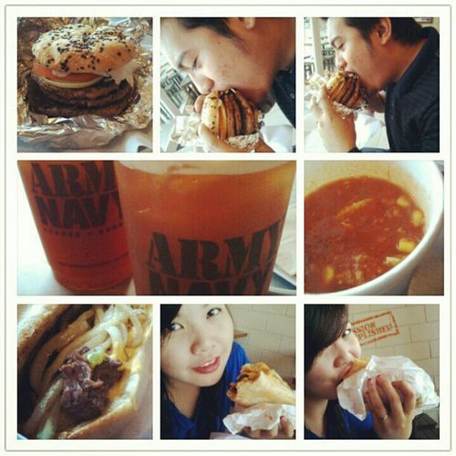 Because we don't care with our figures! :-P Yummy Giant Burger Sandwich spicy burp hunger Happiness happytummy