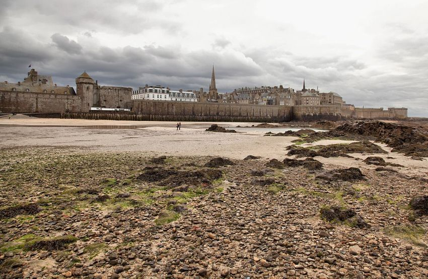 Saint Malo , France Traveling Landscape_photography Tourism Landscape Travel Photography Bretagne My Love Bretagne Beach Stone House Winter Low Tide Brittany Sea Castle Fortress Fortress Of Stone Landscapes With WhiteWall