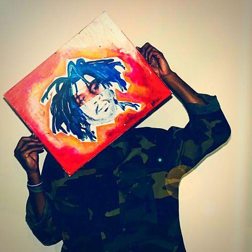 Contrast Portrait of Atlanta Indie Hip Hop Artist RETROSAMPLE - Artwork by BEANMCBEAN also an Indie Artist in Atlanta. Created in 2015 ATL! First Eyeem Photo