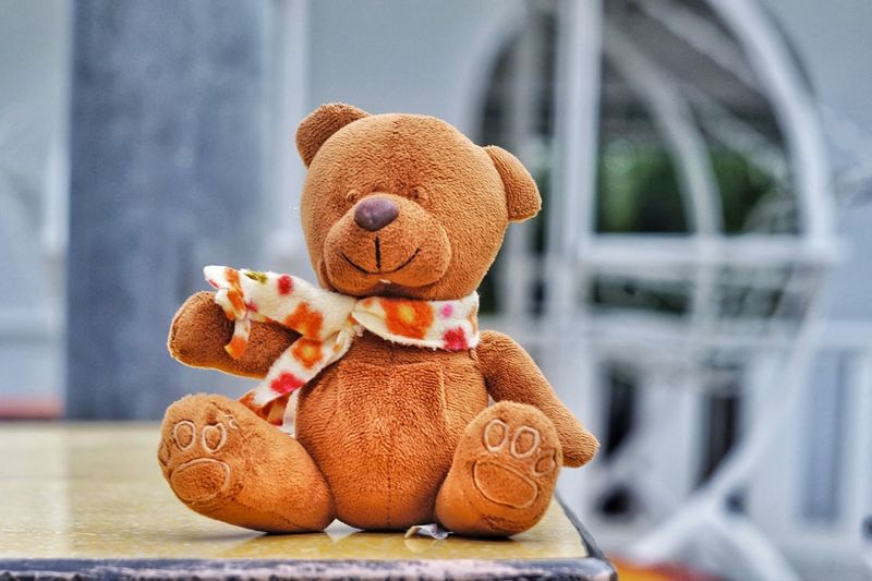 Close-Up Of Teddy Bear On Table