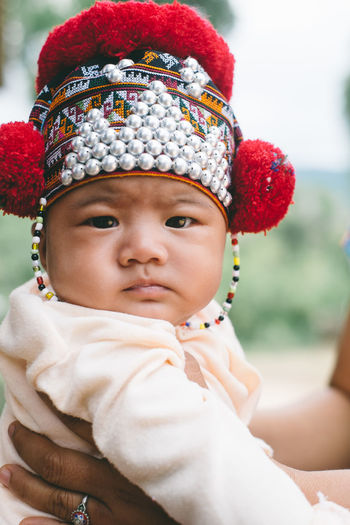 Baby Cap Childhood Close-up Culture Cultures Day Focus On Foreground Headband Headshot Headwear One Person Outdoors Real People Tribal Wearing Art Is Everywhere