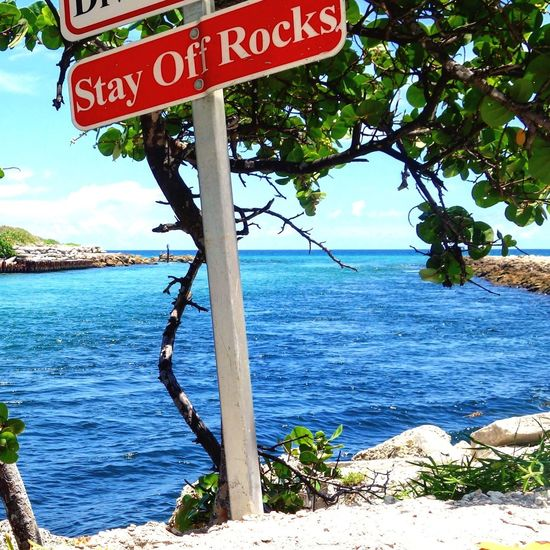 Ok I will 🙄, 😜 Rocks Regulatory Sign Inlet Jetty Trees Taking Photos pretty Day