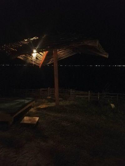 Night beach Umbrella Beach Walk Night Relax HUAWEI Photo Award: After Dark Illuminated Sky