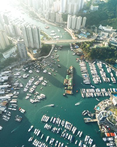 Fishing Village Water Day Sea Travel Destinations Aerial View Sky Outdoors Skyscraper Cloud - Sky Urban Skyline Building Exterior Sunset Vacations Leisure Activity Sun Non Urban Scene Non-urban Scene Mountain Casual Clothing Beauty In Nature Yacht No People Mavic Pro Backgrounds City