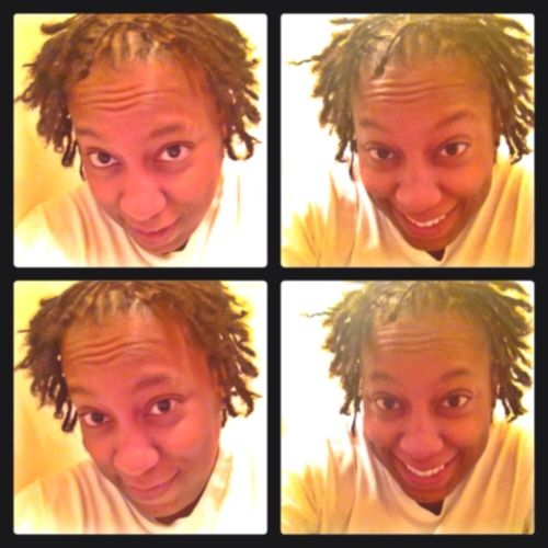 I smile more today because I'm happier today than I was yesterday #teamdreadhead #teamlesbian #gaylife #Dreads