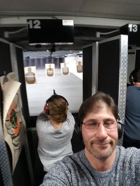 Enjoy The New Normal Two People Adults Only People Adult Indoors  Only Men Togetherness Day Daughters Gun Range Daughter And Dad ❤