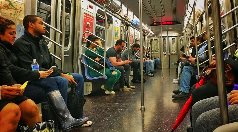 Traveling the subway in New York #Metro #mta #NewYork  #NYC #people #subway #transit #Usa City City Life Journey New York New York City Public Transport