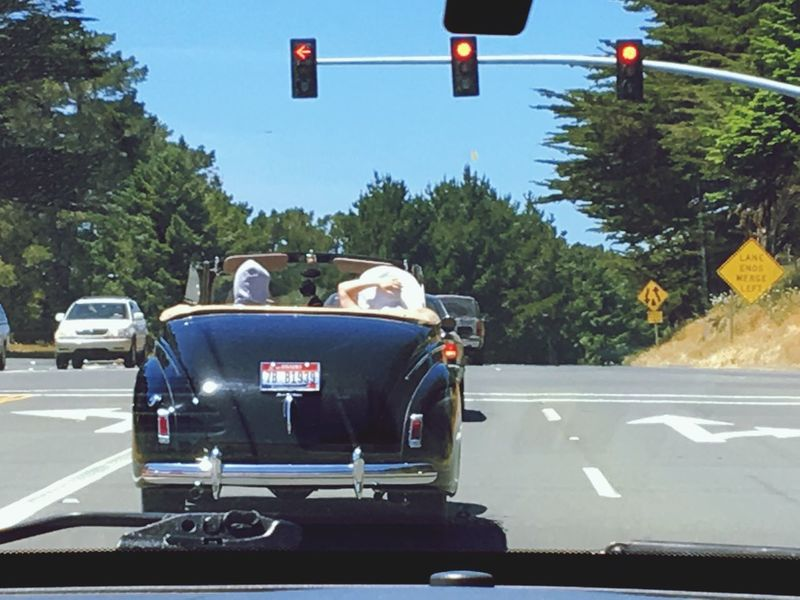 A Beautiful Drive California California Convertable Hat Transportation Road Car Day Land Vehicle Tree Street