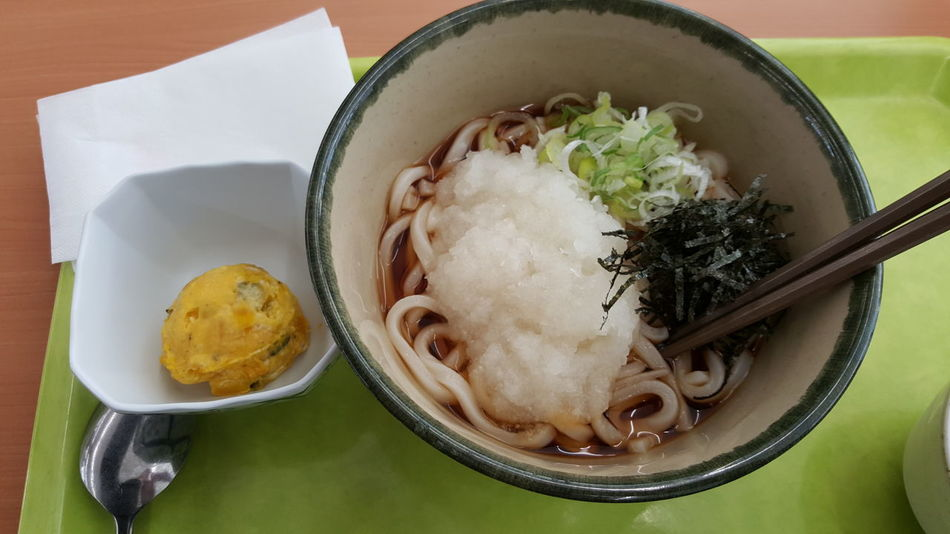 Kaki soba, Food And Drink Healthy Eating Bowl Freshness Indoors  Steamed  Japanese Food Noodle Soup Raw Egg In A Bowl